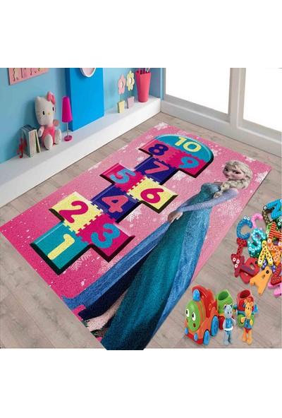 Veronya Elsa Seksek4 Makine ve Dokuma Halı Kalın Çocuk Halısı 60 x 100 cm