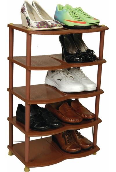 Elitehome Pratik 5 Katlı Plastik Ayakkabılık