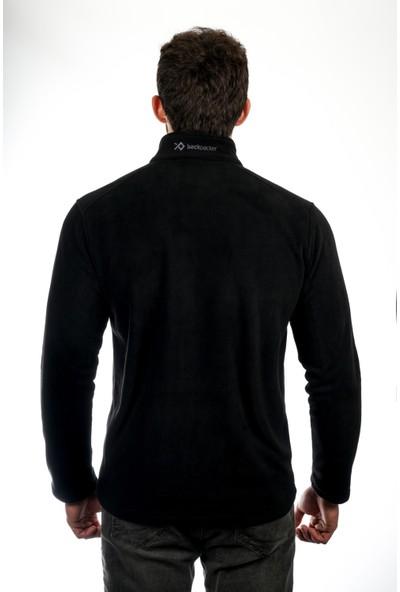 Backpacker Causal Tam Fermuarlı Siyah Erkek Polar