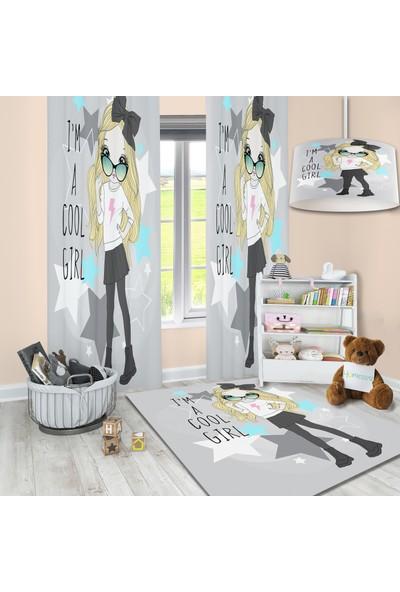 Homessa Sevimli Kız Çocuk Odası Fon Perde