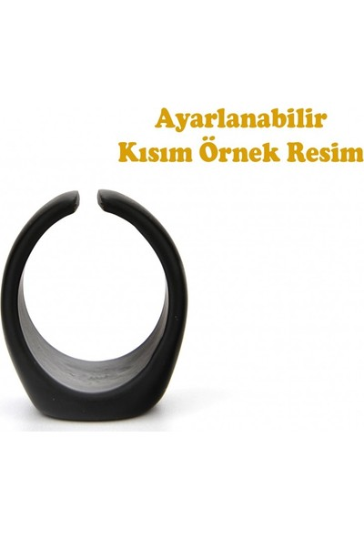 Apptakı Zihgir Mat Siyah Yüzük - YÜZ0066