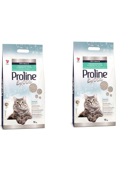 Pro Line Extra Topaklaşan İnce Taneli Kedi Kumu 10 kg 2 Adet