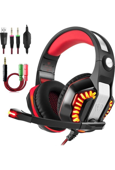 Gaming Headset, Beexcellent Gm-2 Over-Ear Stereo Bass Wired Hi-Fi Gaming Headphones