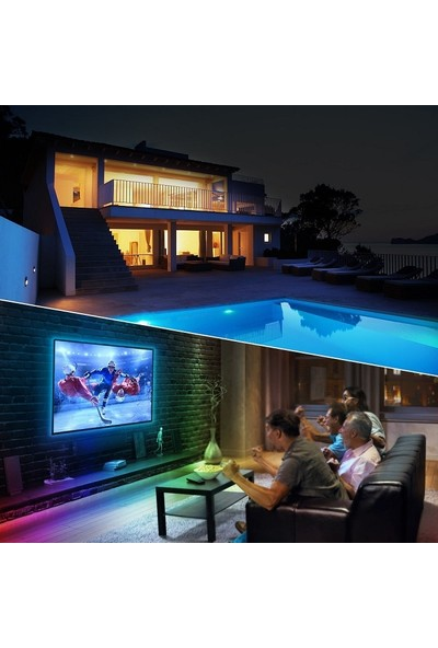 Triline Tv Arkası Silikonlu Kumandalı Rgb Şerit LED 16 Renk 1 m