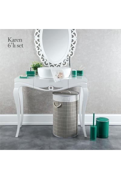 Doreline Karen 6 Parça Akrilik Banyo Seti