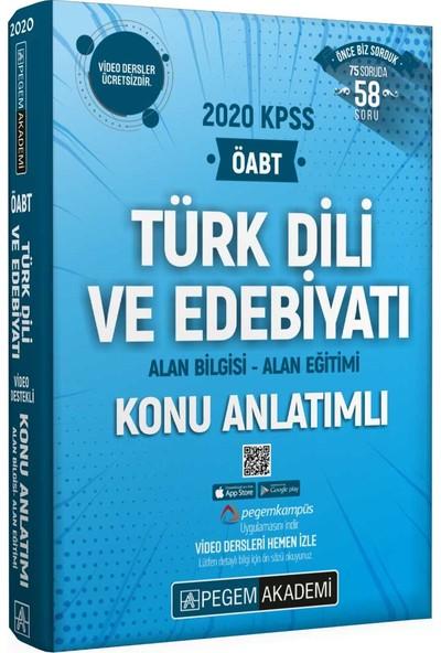 Pegem Akademi ÖABT Türk Dili ve Edebiyatı Konu Anlatımlı