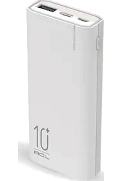 Acl SlimmiePower™ 10.000 mAh Taşınabilir Şarj Cİhazı - Beyaz