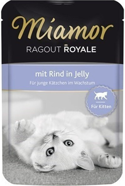 Miamor Ragout Sığır Etli 100 gr Yavru Kedi Yaş Maması 22'li Ekonomik Koli