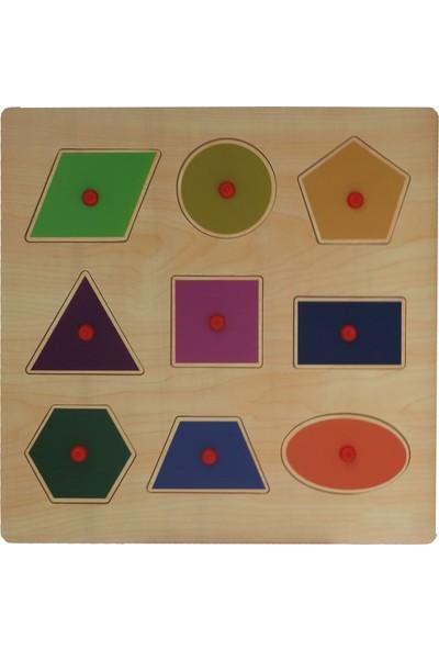 Edu Dizayn Ahşap Geometrik Şekiller Yapboz
