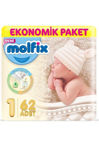 Molfix 1 Beden Yeni Doğan Bebek Bezi 62'li