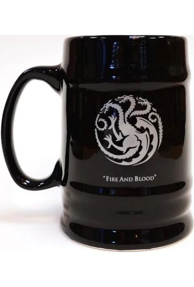 EPSİLON Game Of Thrones Targaryen Gümüş Yaldızlı Siyah Büyük Kupa