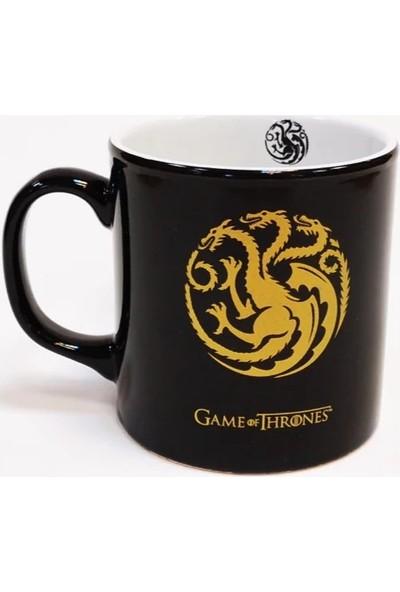 EPSİLON Game Of Thrones Targaryen Altın Yaldızlı Siyah Kupa