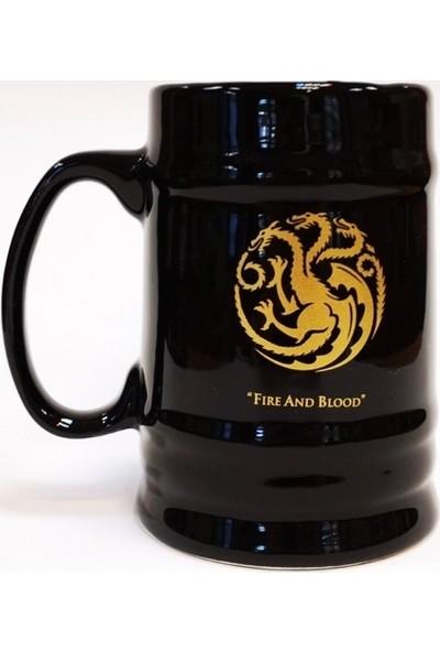 EPSİLON Game Of Thrones Targaryen Altın Yaldızlı Siyah Büyük Kupa