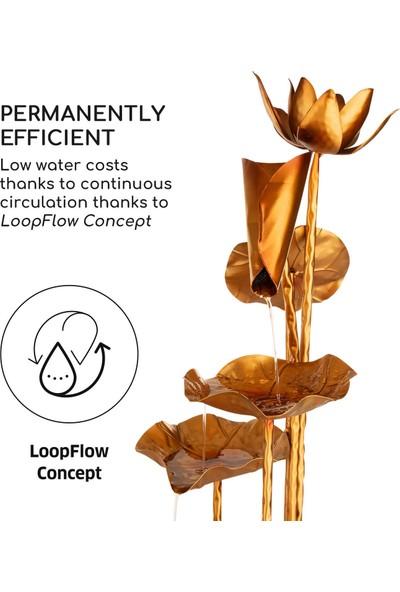 Blumfeldt Altın Orkide Su Değirmeni Şelale Dekoratif Süs Havuz