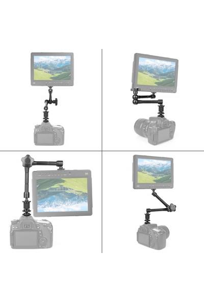 "Soundizayn Magic Arm 11"" Dslr Rig LED LCD Için Hareketli Kol 28 cm"
