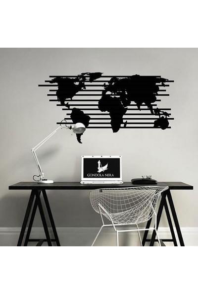 Gondola Dünya Haritası Ahşap Tablo