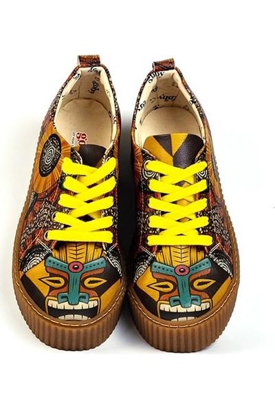 Goby - Ester Kadın Tasarım Ayakkabı Desenli