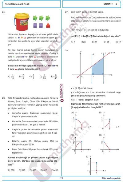 Mathema Yayınları Tyt Matematik Denemeleri