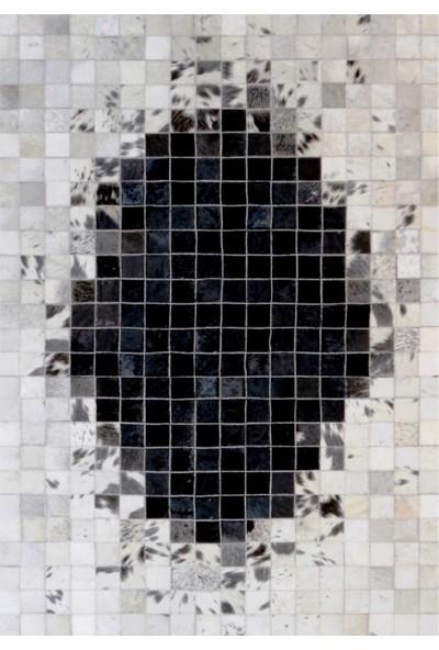 Tappeto Aktüel Deri Halı Siyah Reverse 80 x 150 cm
