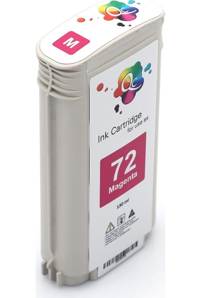 QC Hp 72 C9372A Kartuş 130 ml Kırmızı