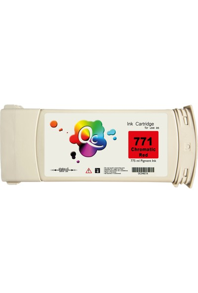 QC Hp 771 Ce038A Kartuş 775 ml Kırmızı