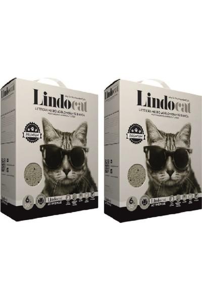 Lindo Cat Aktif Karbonlu Topaklaşan Kedi Kumu 6 l x 2 Adet