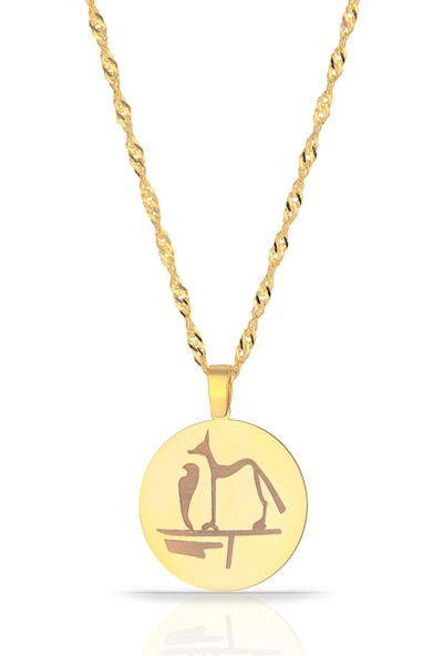 Azuris Silver 925 Ayar Gümüş Singapur Zincir Mısır Tılsımı Madalyon Kolye