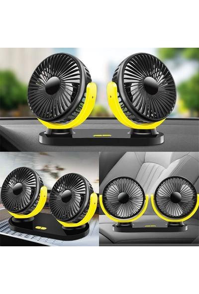 Ally Çift Başlıklı Araç Fanı Oto Fan Vantilatör 12V 24V