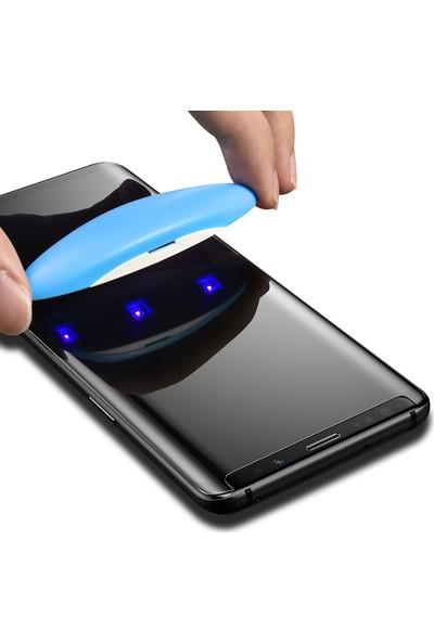 Sincap Samsung Galaxy S10E Telefon Ekran Koruyucu Cam ve Uv Yapıştırma Kiti Seti