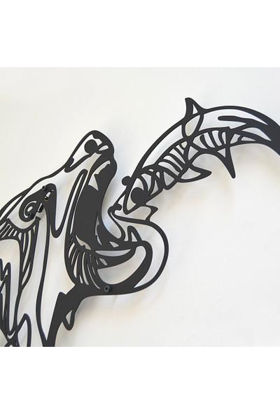 Trigou Bear Fish Metal Tablo