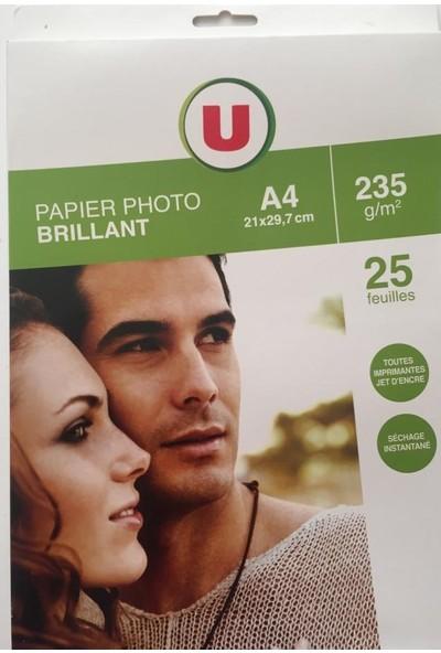 U Papier Photo Brillant A4 235G/m2 Fotoğraf Kağıdı