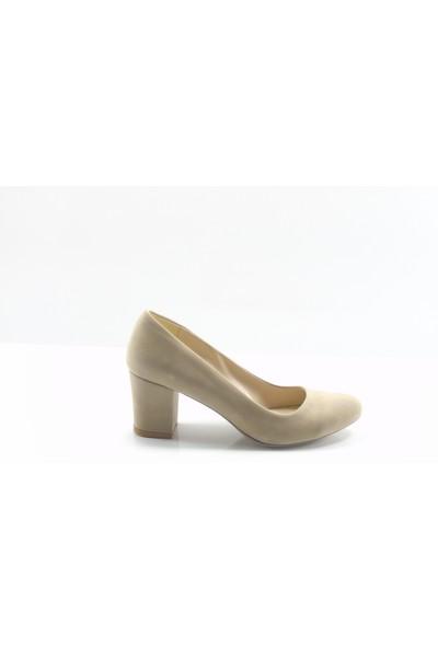 By Ercan Ten Süet Topuklu Kadın Ayakkabı