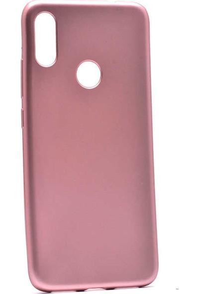 Fiber Aksesuar Xiaomi Redmi Note 7 Kılıf Mat Esnek Premier Silikon Rose Gold