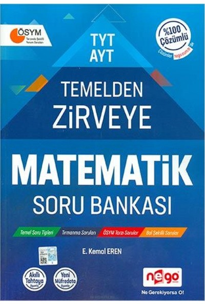 Nego Yayınları TYT - AYT Temelden Zirveye Matematik Soru Bankası