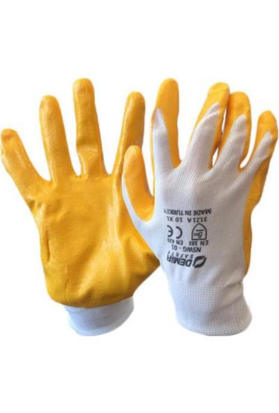 Demir NSWG01 12 Çift Sarı Nitril Iş Eldiveni