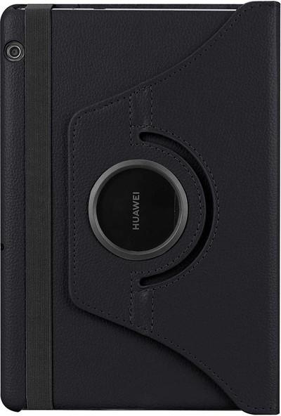 "CoverZone Huawei Mediapad T3 10"" Dönerli Standlı Kılıf Siyah"