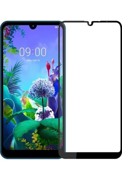 Coverzone LG Q60 5D Çerçeveli Tempered Ekran Koruyucu Siyah