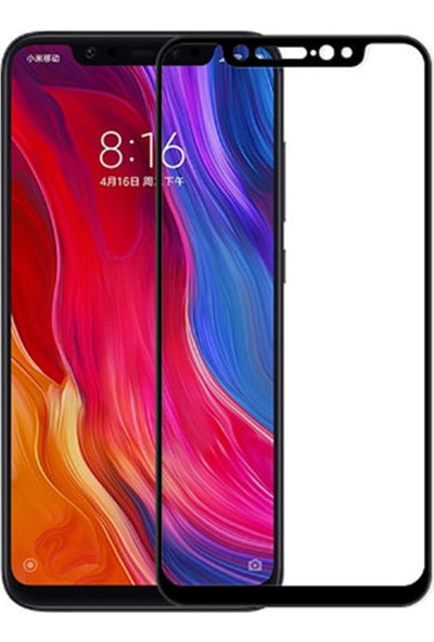 Coverzone Xiaomi Mi 9 Lite 5D Çerçeveli Tempered Ekran Koruyucu Siyah