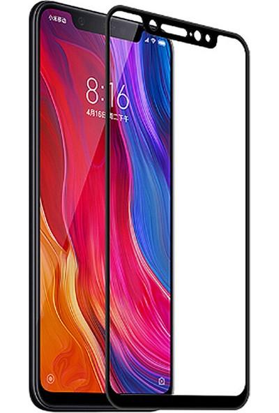 Coverzone Xiaomi Redmi Note 8 Pro 5D Çerçeveli Tempered Ekran Koruyucu Siyah