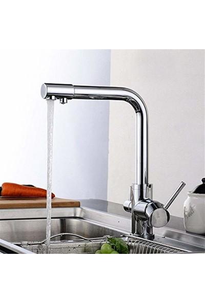 Hms Su Arıtma 3 Çıkışlı Dual Flow Evye Mutfak Bataryası