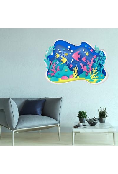 Sim Tasarım Akvaryum Duvar Sticker Seti