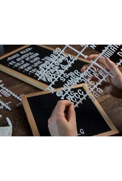 Olive & Mom Design Harfli Ahşap Yazı Panosu Letter Board