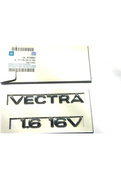 Opel Vectra B' Vectra1.6 16V'' Yazısı