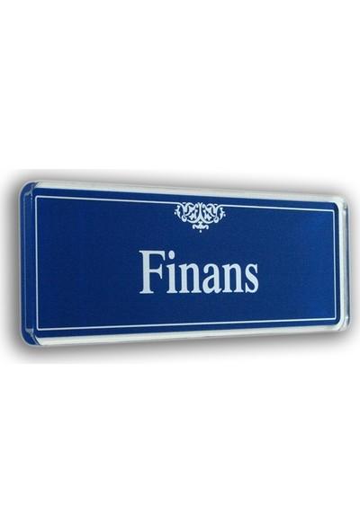 PassPano Akrilik Kapı Isimlik FİNANS 6,5 x 20 cm