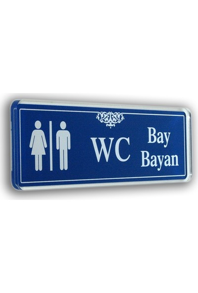 PassPano Akrilik Kapı Isimlik WC BAY /BAYAN 6,5 x 20 cm