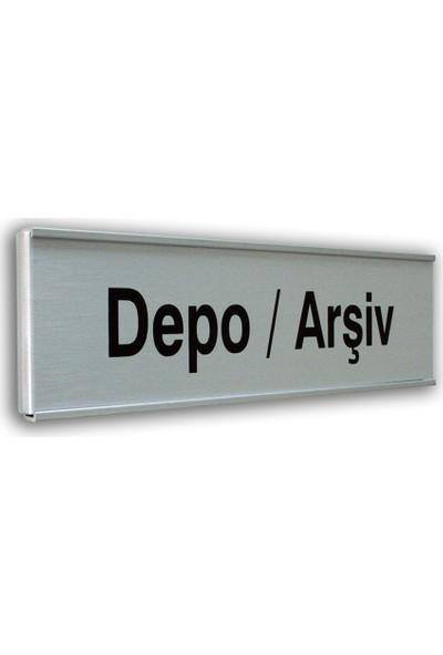 PassPano Alumınyum Plate Levha DEPO/ARŞİV 7X25 cm