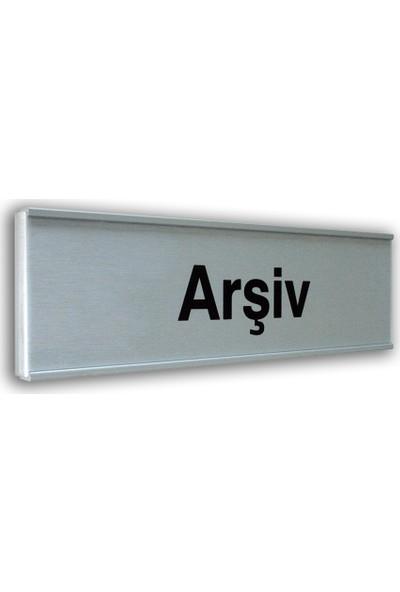 PassPano Alumınyum Plate Levha ARŞİV 7X25 cm