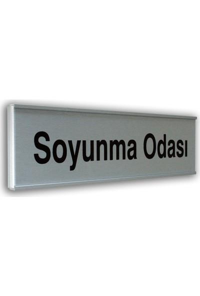 PassPano Alumınyum Plate Levha SOYUNMA ODASI 7 x 25 cm