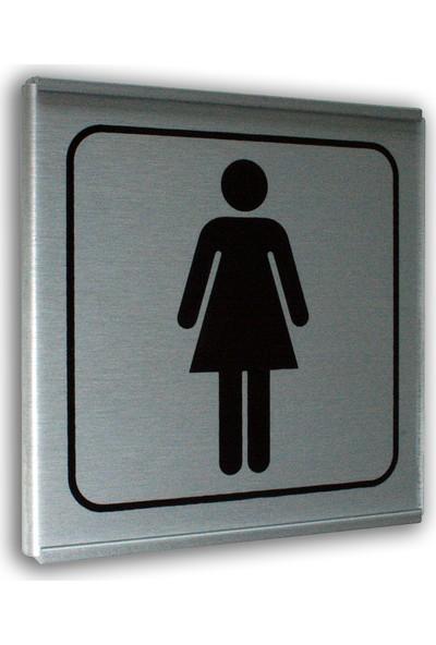 PassPano Alumınyum Plate Levha BAYAN WC Sembol 12 x 12 cm