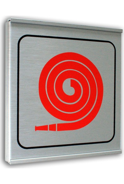 PassPano Alumınyum Plate Levha YANGIN HORTUMU Sembol 12 x 12 cm